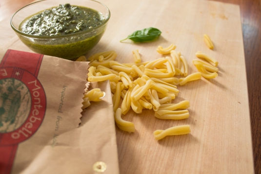 New Pi Eats pesto & gemelli