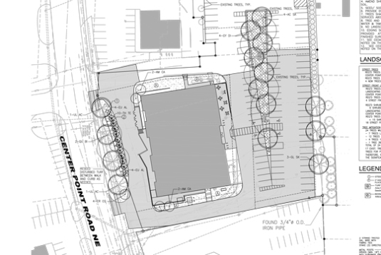 The blueprint for the future New Pi Cedar Rapids parking lot bioswale!