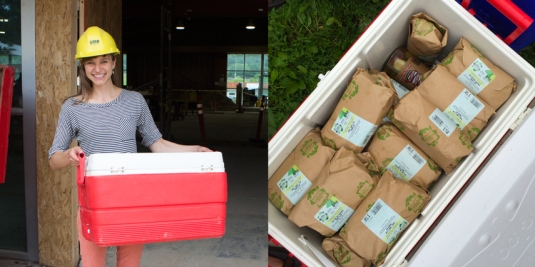 The first food delivery to our future Cedar Rapids New Pi store - we brought lunch for the construction crew!